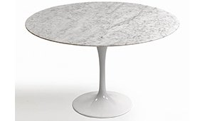 Mesa de comedor redonda moderna metal y mármol Coto