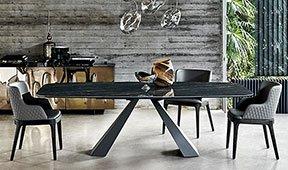 Mesa de comedor extensible madera Moderna Eliot
