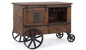 Mueble para vinos industrial 2 puertas 1 cajón Piterju