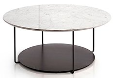Mesa de centro de metal y mármol o madera Domo