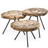 Mesa de centro madera De Soto set de 3