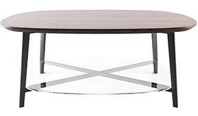 Mesa de centro moderna ovale Legno