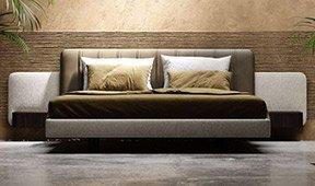 Cama tapizada de diseño Amanda