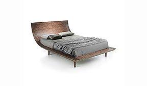 Cama moderna nogal veliero para cama de 150x200