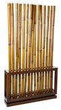 Biombo colonial separador de ambientes bambú mindi