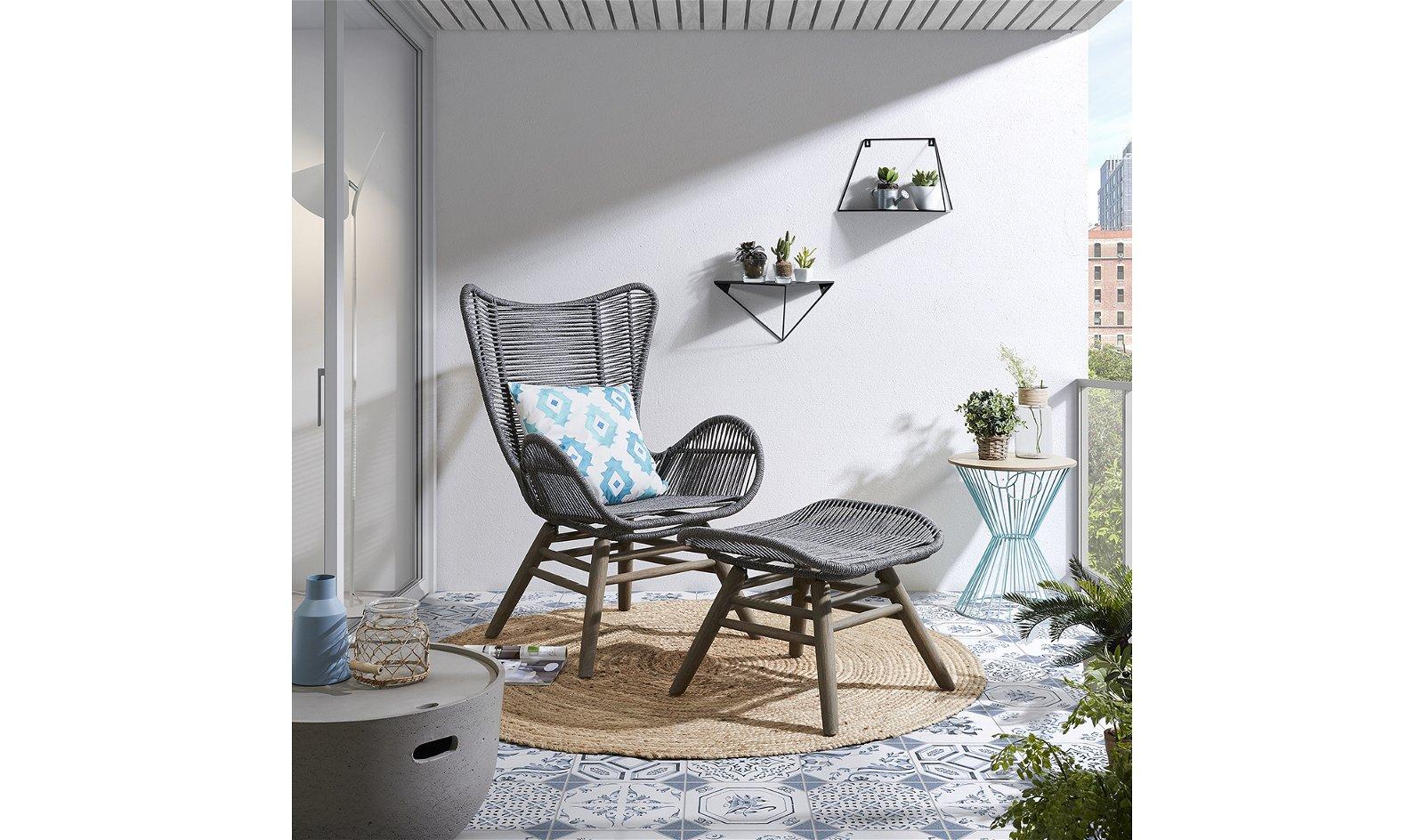Mesa auxiliar cemento de jardín Sari