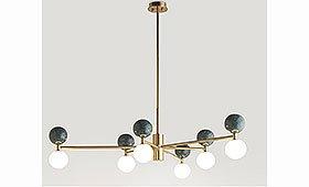Lámpara de techo Dalt 6 mármol y acero