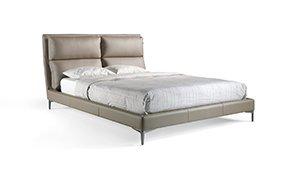 Cama moderna tapizada vison conte para colchón 160x200