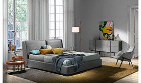 Cama moderna tapizada Idara para colchón 180x200