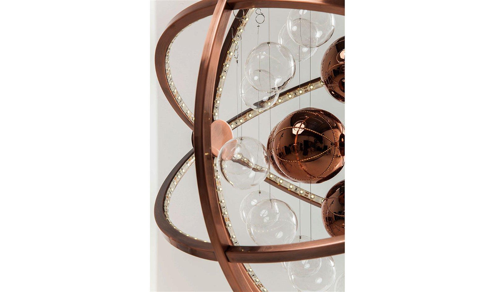 Lámpara colgante Universum Cobre LED