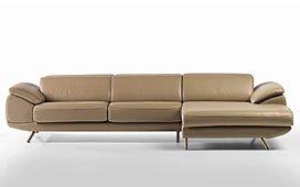 Sofá con Chaise Longue Vintage Manau