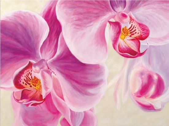 Cuadro canvas purple orchids