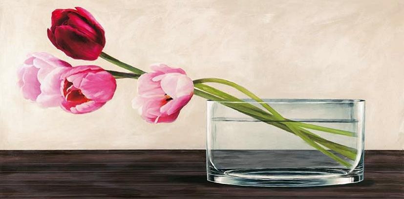 Cuadro canvas modern composition tulips