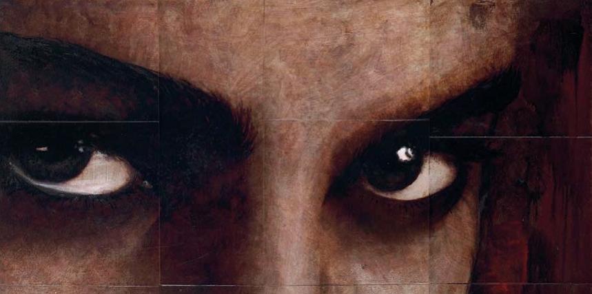 Cuadro canvas sguardo di donna