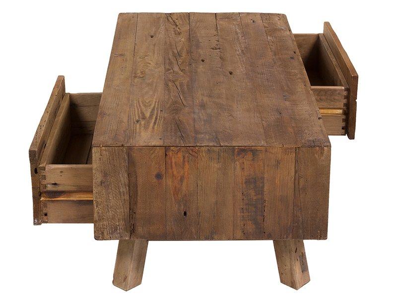 Mesa de centro nórdica 2 hueco 2 cajón Dare