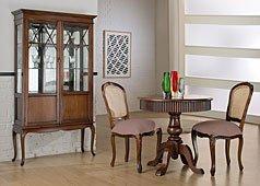Salón clásico caoba
