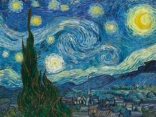 Cuadro canvas van gogh noche estrellada