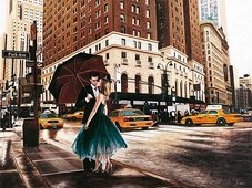 Cuadro canvas kiss in park avenue
