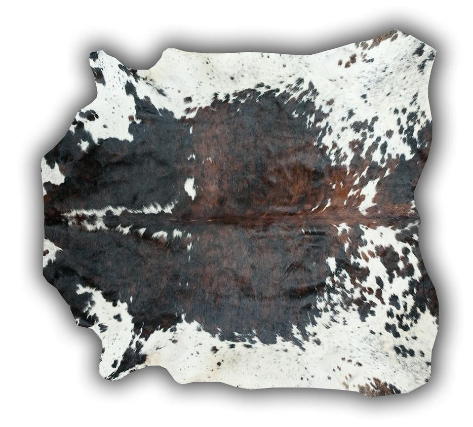 Alfombra de piel de toro normando grande