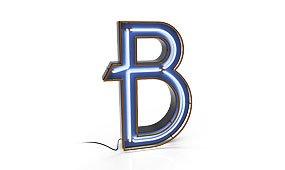 Aplique letra B color azul