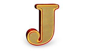Aplique letra J
