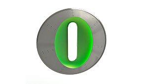 Aplique letra O color verde