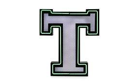 Aplique letra T color verde
