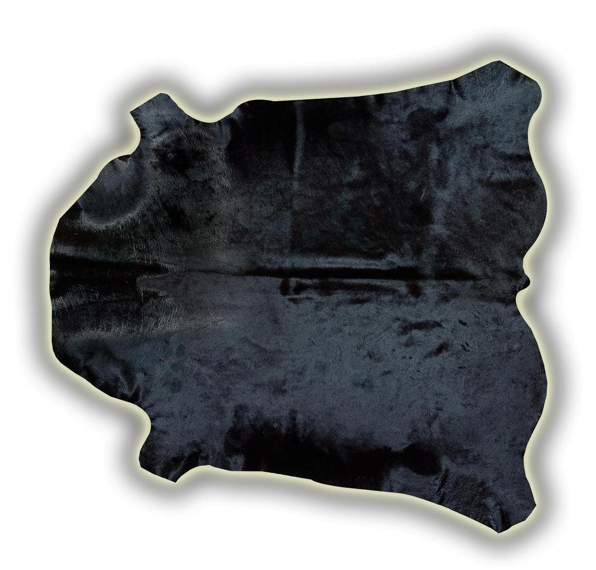 Alfombra oiel entera toro normando teñido negro