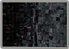 Alfombra piel toro mod Astrakan negro 140x200cm