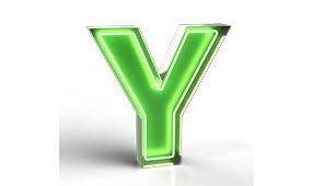 Aplique letra Y color verde