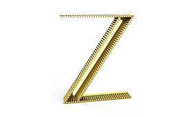 Aplique letra Z color amarillo