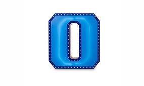 Aplique número 0 color azul