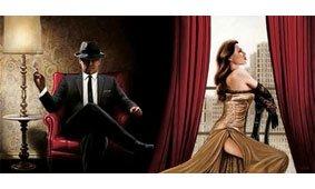 Cuadro canvas black tie high heels