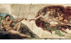 Cuadro canvas michelangelo la creazione di adamo