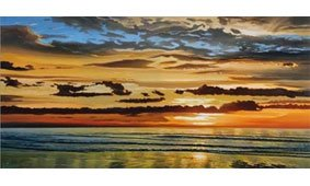Cuadro canvas alba sul mare