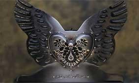 Velas corazón aladas