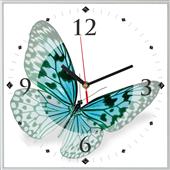Reloj cuadrado mariposa I