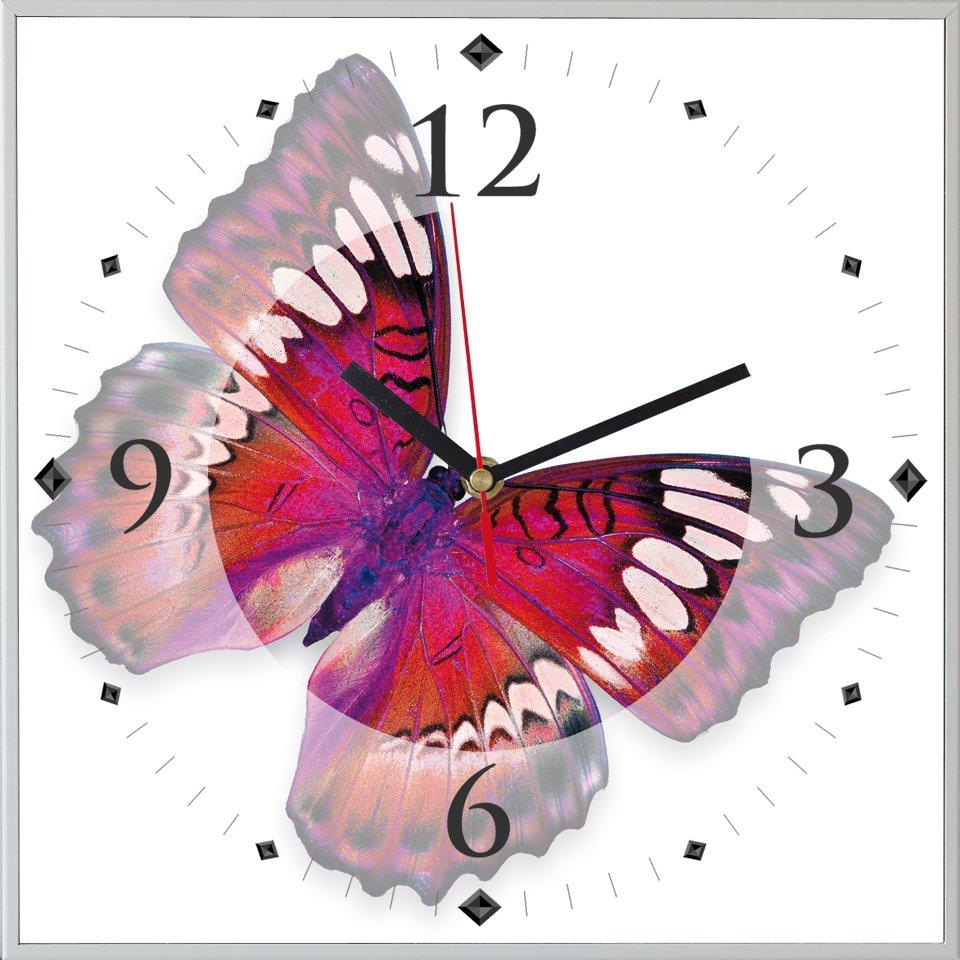 Reloj cuadrado mariposa II