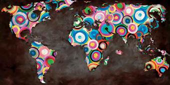 Cuadro canvas world in circles