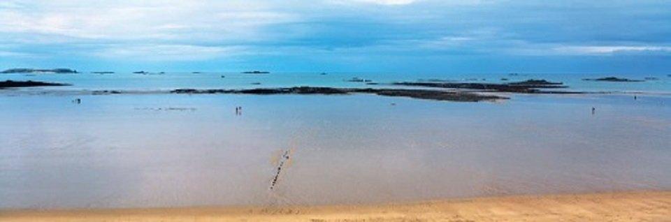 Cuadro Canvas Basse mer sur le