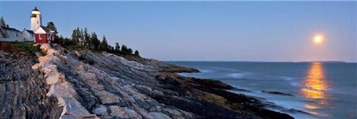 Cuadro canvas Le Pemaquid Point Lighthouse USA