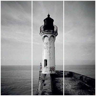 Cuadros Tríos Canvas Le phare de Sant Valery
