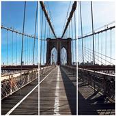 Cuadros Tríos Canvas Brooklyn Bridge New York