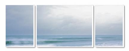 Cuadro Tríptico Canvas Temps marine