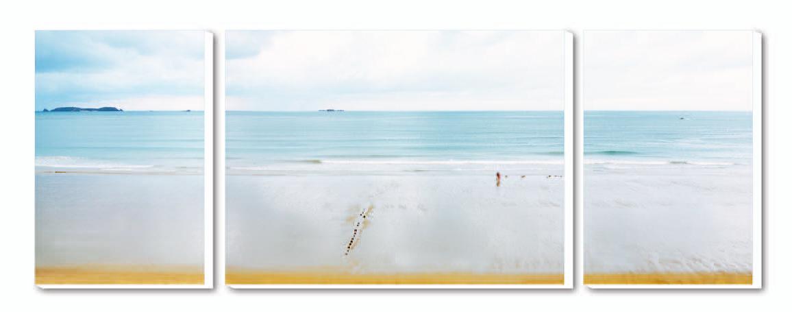 Cuadro Tríptico Canvas La plage du Sillon-Saint Ma