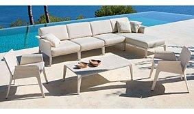 Sofa de jardín Kolima con chaise Longue