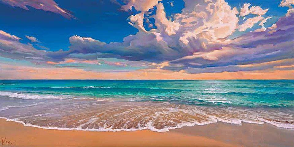 Cuadro canvas onda oceano