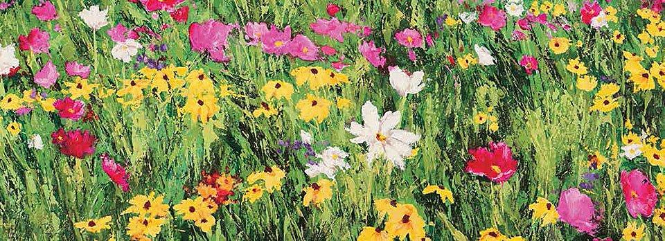 Cuadro canvas field of flowers