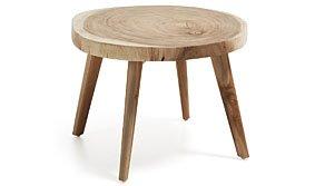 Mesa auxiliar de madera Taorín