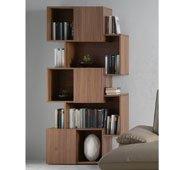 Librería moderna Nogal Kubic